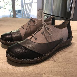 Aetrex Leather Lace Up Oxford Cork/Rubber Sole